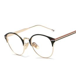 Wholesale Vintage Reading Light - Wholesale- Newest Oval Reading Eyeglass Frame Eyewear Men Women Vintage Computer Myopia Eyeglasses Frame Brand Anti-blue light Lens Glasses