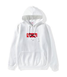 Wholesale White Jacket Short For Man - European winter off white lovers plus velvet Hoodie tide brand Monogrammed loose hip hop anti social club hoodies sweater jacket for Free f