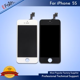 Wholesale Iphone 5s Touch Glass Replacement - Grade A+++ Glass Touch Screen Digitizer LCD Assembly Replacement For iPhone 5S & Free shipping