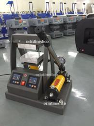 "Wholesale Semi Automatic Heat Press Machine - 14000PSI 10 Tons Pressure Hydraulic Rosin Press 5""x5"" (12x12cm )Oil Press LCD display controller Dual Element Heat Press Machine"