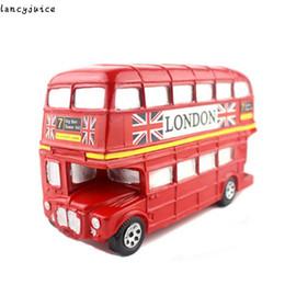 Wholesale British Money - British Double Deck Bus Money Box Piggy Bank Coin Bank For Christmas Birthday Gift