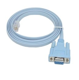 Wholesale router rj45 - Network RJ45 to RS232 COM Port Serial DB9 Female Router Console Cable Adapter For Cisco Huawei