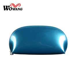 Wholesale Clear Color Clutch Bag - Wholesale- Wholesale 10 Color Patent Leather Make UP Organizer Bag Women Travel Toiletry Bags Clutch Makeup Bag Waterproofing Cosmetic Bags