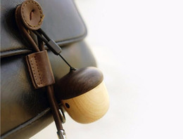 Wholesale Wooden Pc Speakers - Portable Nut Speaker Wireless Mini Cute Wooden Powerful Outdoor Bluetooth Handsfree Speakers Loudspeaker for mobile phone or mini pc