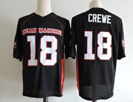 Wholesale Mens Machine - Mens The Movie Mean Machine Sandler Football Jersey adults Stitched Black #18 Paul Crewe The Longest Yard film Jersey S-3XL