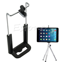 Wholesale Ipad Screws - Wholesale- 1 4 Screw Clip Bracket Mount Holder To Camera Tripod For IPad 8 Inch Tablet PC Stands DN001