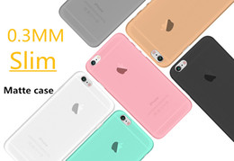 """Wholesale Iphone 4s Cases Slim - 0.3mm Ultra Thin Slim Matte Frosted Flexible Transparent Clear Soft PP Cover Case Skin for iPhone 7 Plus 6 6S 4.7"""" 5.5"""" 5 5S 4 4S 100pcs"""