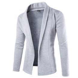 Wholesale Korean Jacket For Men Long - Wholesale- Korean Men Trench Coat Brazer Men Style Casual Jackets For Men Turn-Down Collar Cardigan Mens Overcoat 2017 New Spring Z10