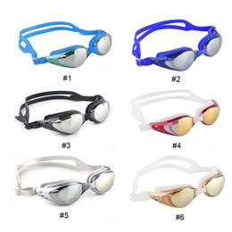 Wholesale Swims Coat - Unisex Adult Coating Mirrored Sport Water Sportswear Anti Fog Anti UV Waterproof Swimming Goggles Glasses 2506006