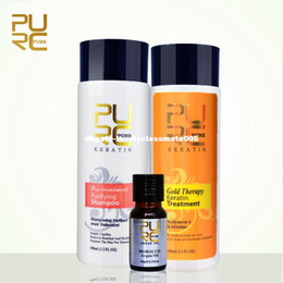 Wholesale Advanced Hair - Gold therapy keratin treatment 2017 new advanced formula best Hair Care and Styling products repair damaged hair gift argan oil