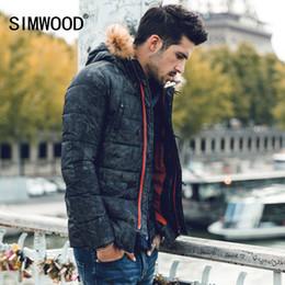 Wholesale vintage down parka - Wholesale- SIMWOOD New Winter Fashion Coats Vintage Warm Thicken Parkas Warm Slim Fit Brand Clothing MF612