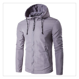 Wholesale Big Jackets For Men - Jackets for Men Autumn&winter Fashion Big Size Waterproof and Sun Proof Men's Casual Sports Hooded Jackets US Size:XS-3XL