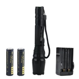 Wholesale Torch High Quality Diving - High Quality 2000 Lumens CREE XML T6 Torch Waterproof Zoom LED Flashlight With 2 x 18650 Battery + Charger & Gift Boxes