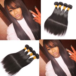 Wholesale Cheap Human Hair Bundle Deals - Unprocessed Peruvian Virgin Hair Straight Body Wave Human Hair Weave 3 4 Bundle Deals Cheap Peruvian Hair Weave Straight Human Bundles
