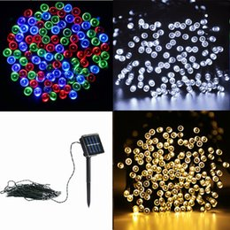 Wholesale Twinkling Stars Christmas Lights - 2017 crazy selling 10M 100leds tring Decoration Light Solar String Light For Party Wedding led twinkle lighting Christmas decoration lights