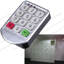 Wholesale Digital Keypad Door - 2017 NEW Intelligent Digital Electronic Lock Password Keypad Number Cabinet Door Code Locks Intelligent Cabinet Lock Professional MYY