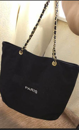 Wholesale Pattern Fashion Bag - 2017 NEW~VIP gift shopping Canvas Bag with chain luxury pattern Travel Bag Women Wash Bag. Cosmetic Storage case fashion canvas beach bag