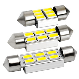 Wholesale C5w Smd - 40pcs 31mm 36mm 39mm C5W C10W C3W 6 SMD 5630 5730 LED Festoon CANBUS NO Error Car Licence Plate Light Auto Dome lamp Reading Bulb