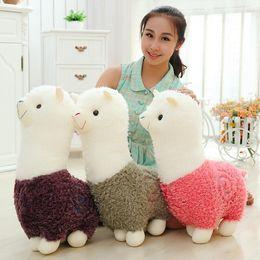 Wholesale Baby Doll Sheep - Alpaca Plush Doll Toy Fabric Sheep Stuffed Animal Plush Llama Yamma Birthday New Year Christmas Gift For Baby Kid Children