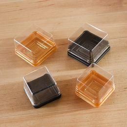 2019 cookies individuais Único Plástico Mooncake Boxes Decoração Embalagem Para Festa de Casamento Do Bolo Do Biscoito Caixa Titular (6.8 * 6.8 * 4.5 cm) ZA3848 cookies individuais barato