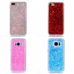 Wholesale Red Glitter Powder - For Iphone 7 Plus 6 6S SE 5 Galaxy S8 Plus S7 Edge Bling Glitter Soft TPU Silicone Case Luxury Confetti Flower Mandala Foil Powder Cover