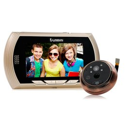 Wholesale lcd digital door viewer - Danmini Smart Digital Door Viewer Peephole Camera with PIR Motion Detection Night Vision DND Function 4.3 inch HD Color Screen Smart +B