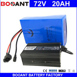 Wholesale Bikes Scooters - BOOANT 72V 20AH Scooter Battery For Bafang 3000W Motor Li-ion Battery pack 20S 8P E-Bike Li-ion Battery pack with 84V 5A charger