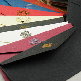 Wholesale Vintage Post - Vintage Paper Envelope European Style Card Scrapbooking Envelopes Business Post Card Birthday Party Gift Rectangle Kraft Paper Envelopes
