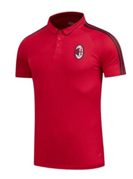 Wholesale Adult Sports Shorts - Top quality 17 18 Ajax AC Milan Jersey POLO Football Shirts 2017 2018 Real Madrid soccer jersey Shirts Polos Adults Sport Polo shirt