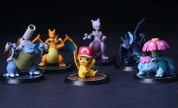 Wholesale Pokemon Ornament - 6pcs lot poke The 8 generation of the 6 Pock PVC Monster doll car ornaments gifts XT