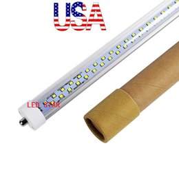 Wholesale Cool Lumens - 8ft led tubes light Double Rows 72W single pin fa8 led t8 tube 384LEDs 7000 lumens high quality ac 110-240v + stock in us