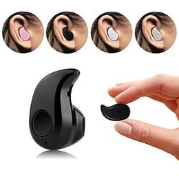 Wholesale Headphone Light Blue - jcdwy Mini Bluetooth 4.0 Earphone Stereo Light Wireless Invisible Headphones S530 Super Headset Music answer call Hot selling