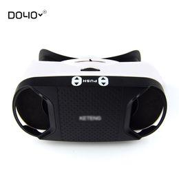 Wholesale Video Camera Headset - Wholesale- 2016 Hot Brand VR BOX 3D Glasses Version Virtual Reality VR Camera Video Movie Game Glasses VR Headset