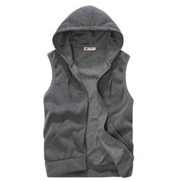 Wholesale Coat 22 - Wholesale- New Mens Jacket Sleeveless veste homme Winter Fashion Casual Coats Male Hooded Cotton Men's Vest Waistcoat 22