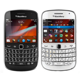 Wholesale Blackberry Bold Back - Refurbished Original Blackberry Bold 9900 3G Mobile Phone 2.8 inch 8GB ROM 5MP Camera WIFI GPS Touch Screen + QWERTY Phone Free DHL 1pcs