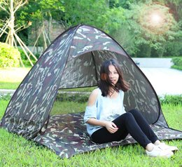 Wholesale Blue Shelter - Instant Quick Cabana Beach Tent Outdoor Automatic Foldable Sun Shelter 3 - 4 Person Portable UV Protection Pop Up 6 Colors +B