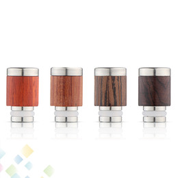 Wholesale Steel Drip Tips - Wooden Drip Tip 510 Mouthpieces Stainless Steel & RedWood Drip Tips Wide Bore Drip Tip for 510 Atomizer Vaporizer E Cig DHL Free