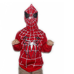 Wholesale Spiderman Jackets - 2016 New autumn Children Boys Spiderman hoodies jacket sweatershirt spider-man clothes for kids free shipping