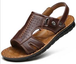Wholesale Pu Process - 2017 new men's leather sandals shoes sandals manufacturers wholesale processing sandals