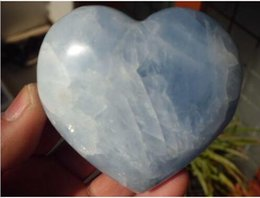 Wholesale blue minerals - Natural Celestite Crystal Heart Rare Natural Ice Sky Blue Celestite Drusy Celestite Crystal Heart Specimen Metaphysical Healing Mineral