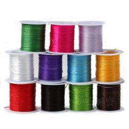 Wholesale Stretchy Bracelet String Wholesale - 10M Roll Colorful Stretchy Elastic Rope Cord Crystal String for Jewelry Making Beading Bracelet