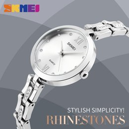 Wholesale Women Rhinestone Waterproof Watch - SKMEI Women Quartz Wristwatches Elegant Stylish Rhinestones Scale Waterproof Wholesale Ladies Watches Relogio Feminino 1225