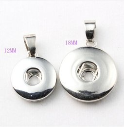 Wholesale Plant Base - Snap Button Base Pendant Jewelry Snap Necklace Fit 12 18mm Snap Button Charms