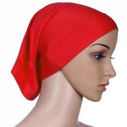 Wholesale Turban Muslim Hijab - Muslim Hijab Underscarf Caps Ninja Islamic Head Coverings Turban Products Jersey Headscarf Full Cover Stretch Inner Scarf free shipping
