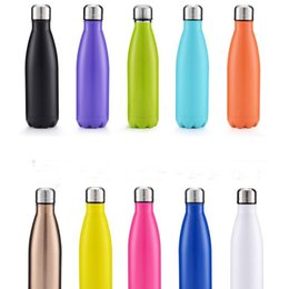 Wholesale Good Water Bottles - Good quality water Bottle Double Layers Vacuum 304 Stainless Steel 500ml Cola Bottle Coke cup Beer Mug Creative Cup Healthy Drinking Water
