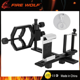 Wholesale Phone Microscope - FIRE WOLF Fully Metal Telescope Camera Adapter Smartphone Adapter with 2 Phone Brackets for Microscope Binocular Spotting Scope