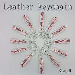 2019 portachiavi softball Portachiavi in pelle con cucitura a baseball Softball 2017 portachiavi softball economici