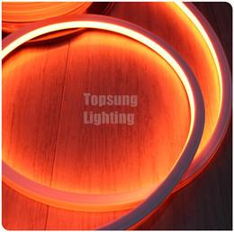2019 tira flexible led naranja Increíble carrete de color naranja 50M tira flexible de LED iluminación de neón 16x16mm 12v 24v neón alambre 120v 220v tira flexible led naranja baratos