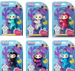 Wholesale Red Baby Toys - Stocking!LOGO IS Fingerlings Interactive Baby Monkeys Smart Fingers Llings Smart Induction Toys Best Gifts Finger Monkey Toy Christmas toys