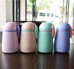 Wholesale Drinking Bottles - Women Candy Color Thermos Stainless Steel Vacuum Flasks Thermoses Travel Mug School thermocup Kids lovely Sport Water Bottle